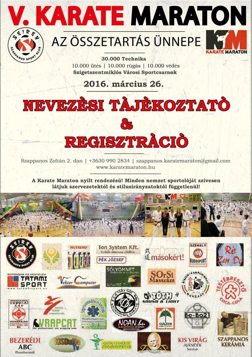 5. Karate Maraton nevez�si inform�ci�k